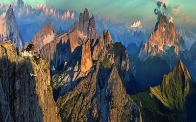063 From Left To Right Rifugio Lagazuoi Croda Da Lago Monte Pelmo Averau Monte Civetta Col Di Lana