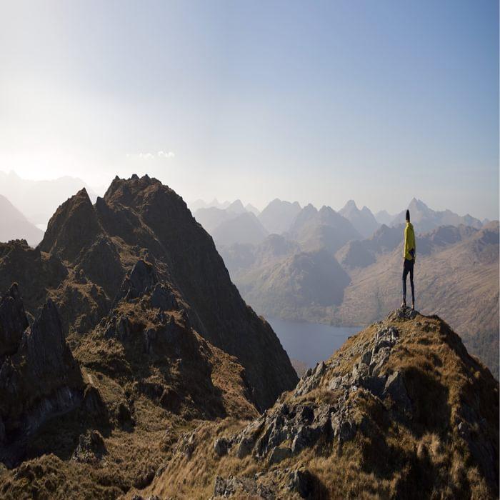 On Ben Venue Looking At The Crianlarich Hills And Loch Katrine
