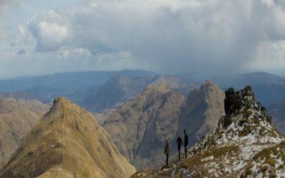 On The Summit Ridge Of Cruach Ardrain With Beinn Tulaichean Behind