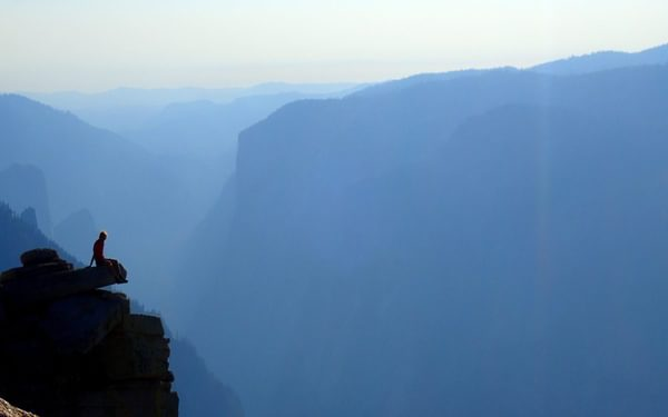 Atop Half Dome Just Before Sunset