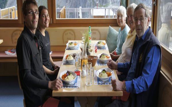 Mealtime At Berghaus Baeregg