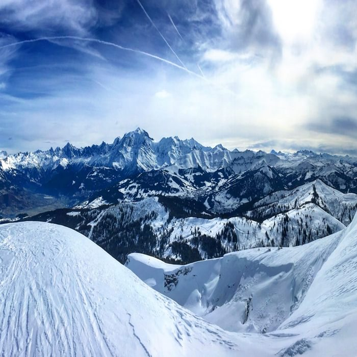 View Of Mont Blanc From Summit Of Petit Croisse Baulet