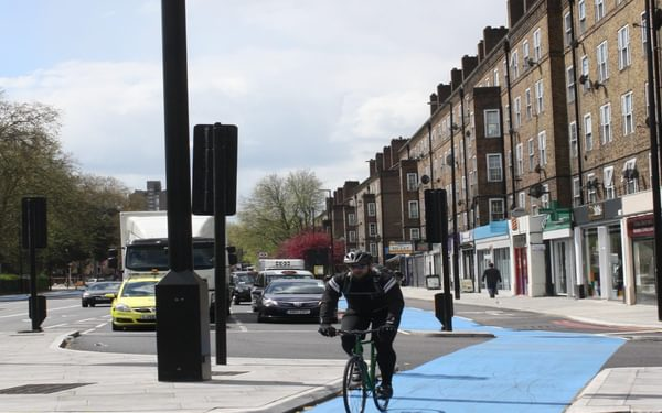 P012 The Proposed Route Will Leave London On A Cycle Super Highway