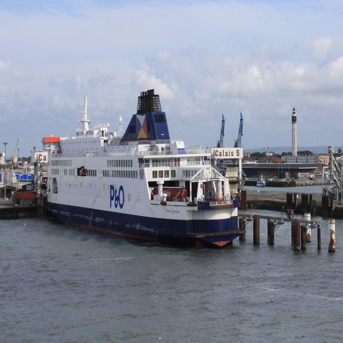 P014  Frequent Ferries Operate Across The English Channel Between Dover And Calais