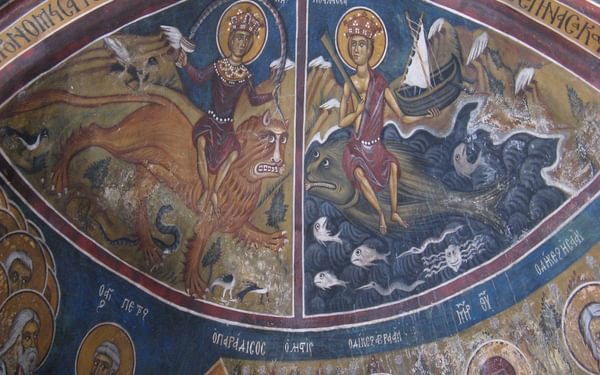 10  Frescoes Of Earth And Sea On The Vaulted Ceiling