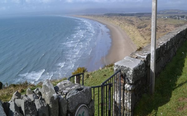 South of Harlech there is a fine prospect north along Cardigan Bay past the dunes of Morfa Harlech