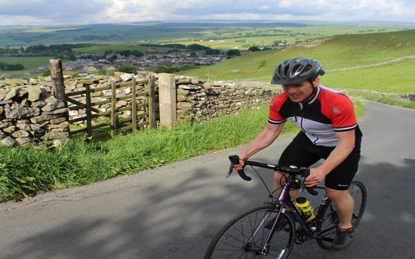 006 Allez Allez Allez Out Of The Saddle On The Infamous High Hill Lane With Settle Falling Into The Distance Beyond