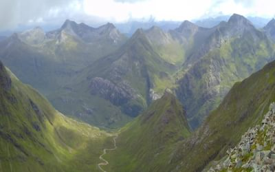 The Mamores And Glen Nevis From Carn Mor Dearg