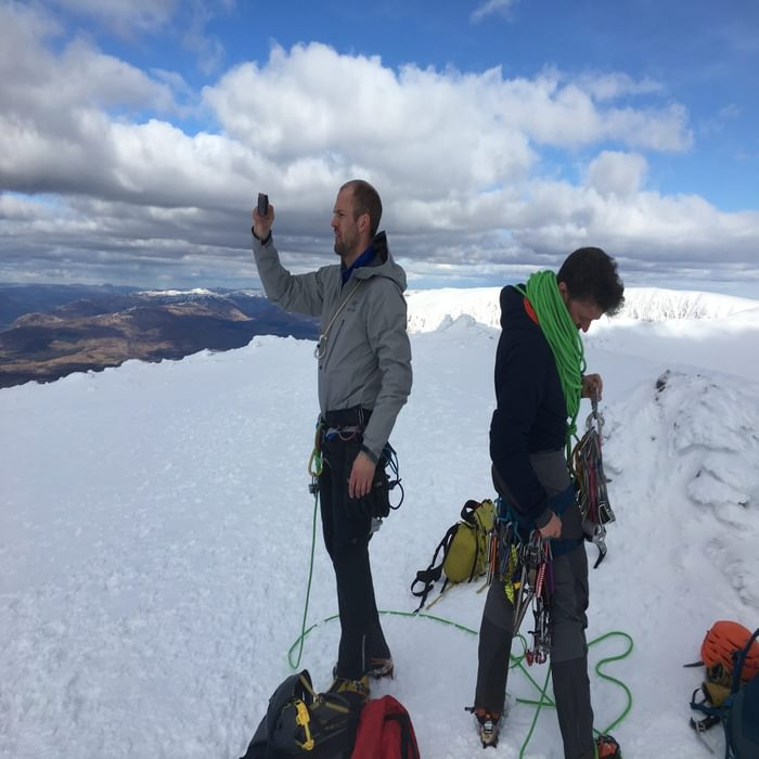 After finishing up Ledge Route (II), we sorted the gear and ate the Easter egg