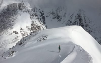 Excellent snow conditions on the An Teallach ridge