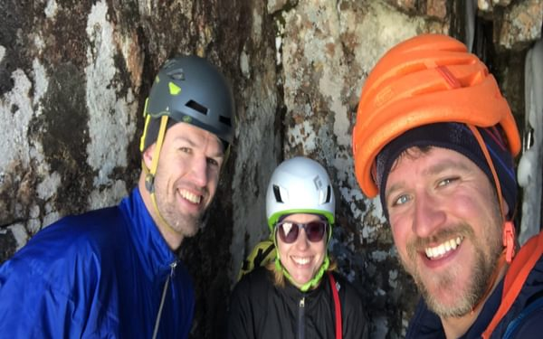 In the cave belay!