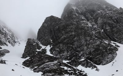 Our approach gully turned out to be over 400m high