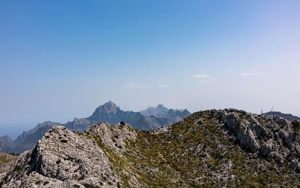 Looking West From Puig Des Teix The Views Extend To Mallorcas Highest Point Puig Major 1436M And Second Highest Puig De Massenella  As Puig Major Is Part Of A Military Base Massenella A Very Fine Mountain Is Much Climbed