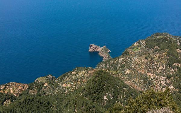 Mallorca's Spectacular Northern Coastline 900M Below The Narrow Cingles De Son Rullan