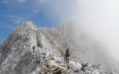 Julian Alps, Slovenia - Final Ridge Ot The Summit Of Prisnak