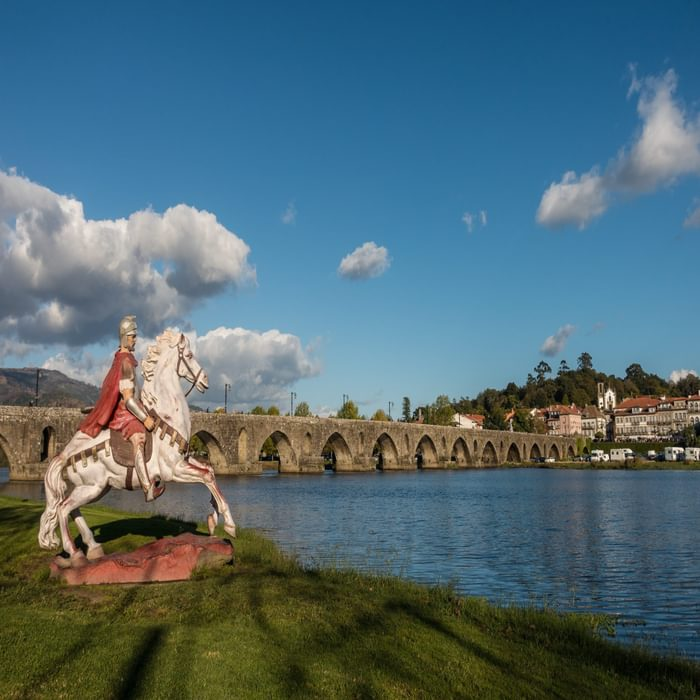 Central Camino: A Roman Soldier And Ponte De Limas Medieval Bridge
