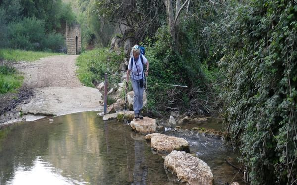 P003 There Are Frequent Crossings Of The Khziv River Using Stepping Stones