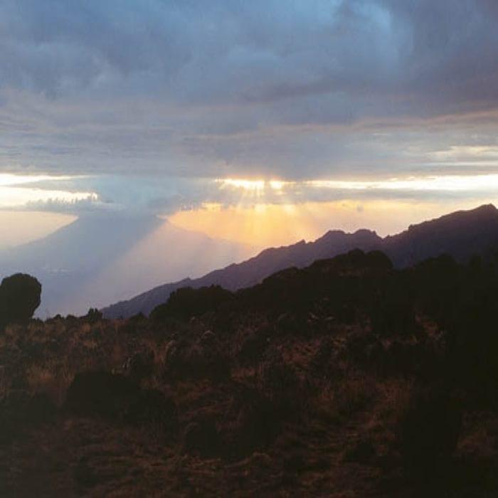 029 Mt Meru At Sunset Seen From Shira Plateau On Kilimanjaro