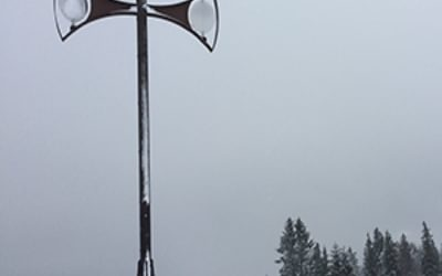 Emerging out of the freezing fog to clear views at Châtel
