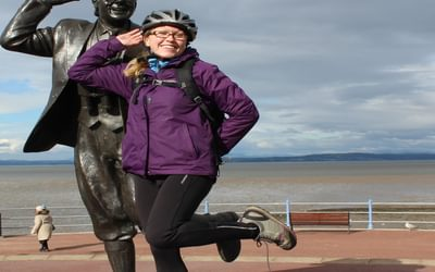 Bring me sunshine - with Eric Morecambe at the start of the ride