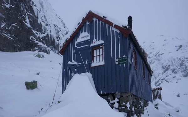 Haheller hut on day 6 in the Settesdal mountains.