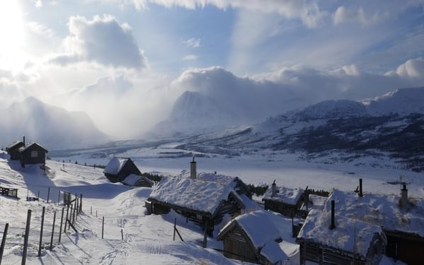 Snowed in farms north of Trondheim
