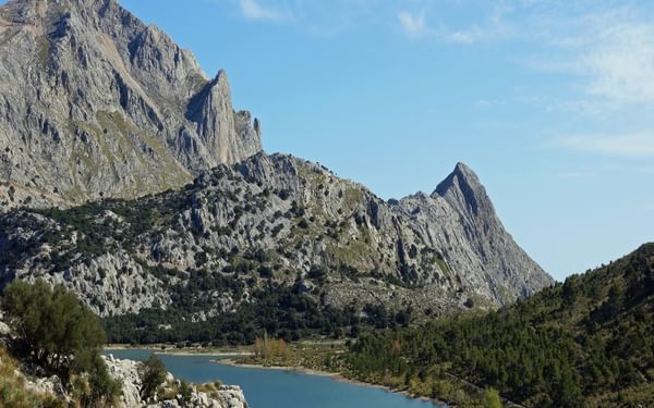 Cúber and its reservoir nestle among Mallorca's highest mountains