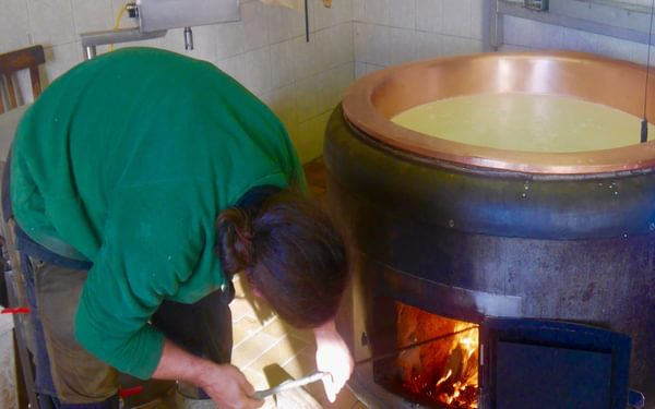 Cheese making at the Straniger Alm
