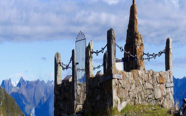 Europe's highest military cemetery at Hochgränton Pass