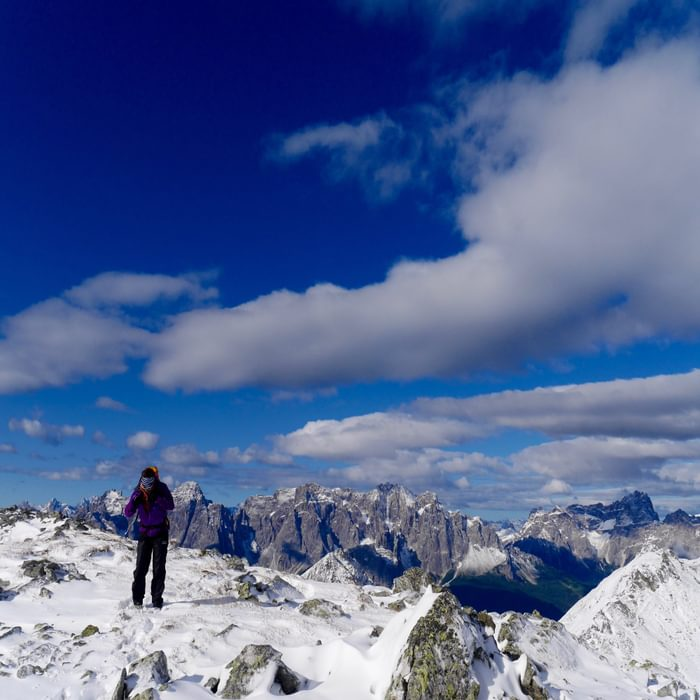 Summer snow on the ascent of Pfannspitze