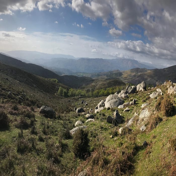 View over the Lima valley towards the Serra do Soajo