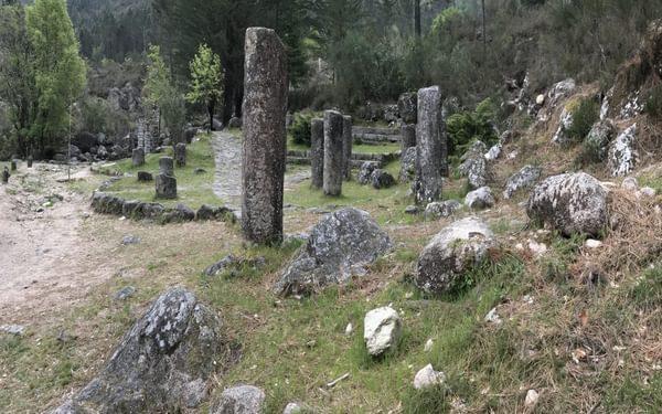 Via Nova Romana milestone and dedication pillars