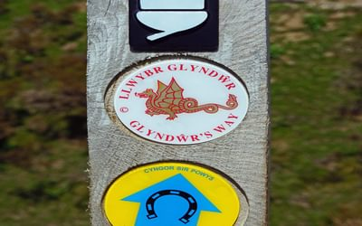 Glyndŵr's Way - the only National Trail that boasts having two logos.