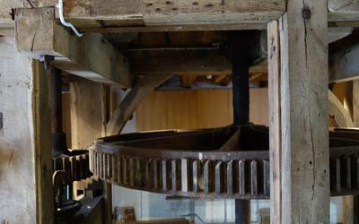 Inside Eling tide mill