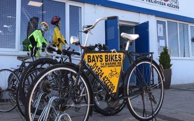 Bay Bikes shop on Morecambe Prom