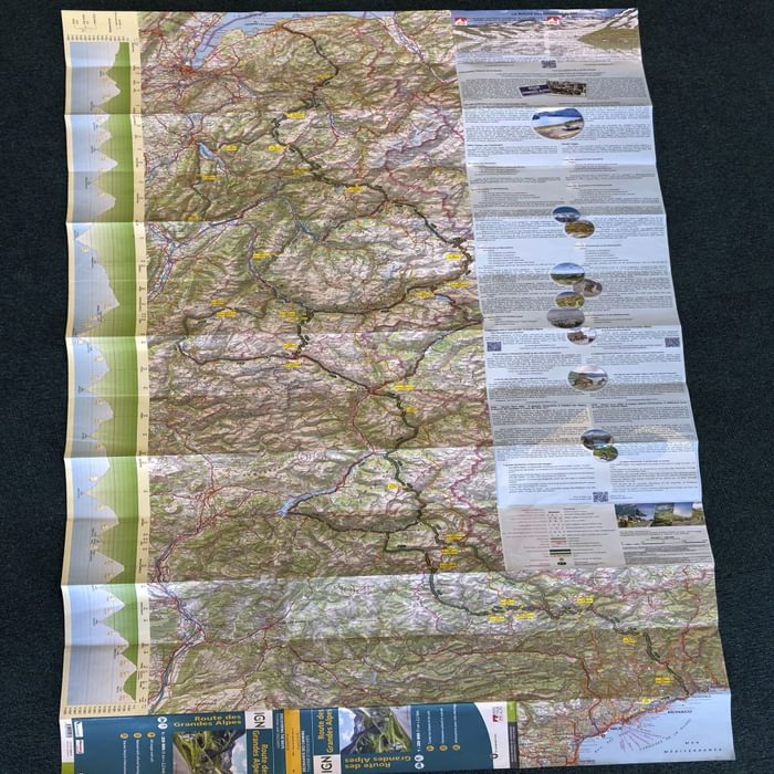 Route des Grandes Alpes map