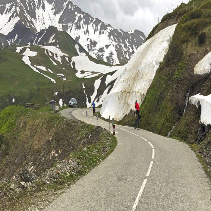 Nearing The Summit Of Col De La Madeleine