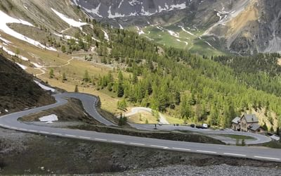 View North With The Refuge Napoleon A Few Hairpins Below The Top Of The Izoard