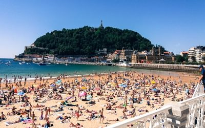 Day 3. A shock to the system, Playa de la Concha, San Sebastian