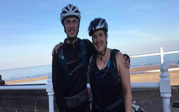 We finished! In Bridlington at the end of the Way of the Roses