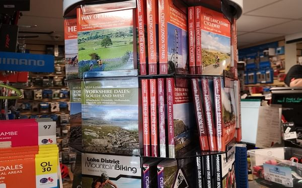 And a good display of guidebooks!