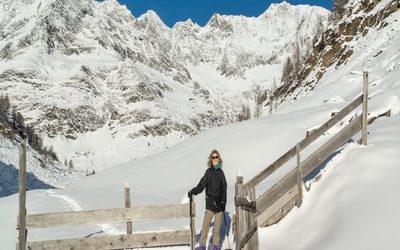 Enjoying the snow in South Tyrol