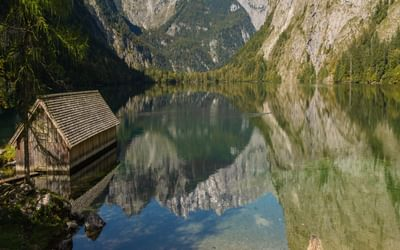 Enjoying the tranquillity at Obersee Berchtesgadener Land, Germany