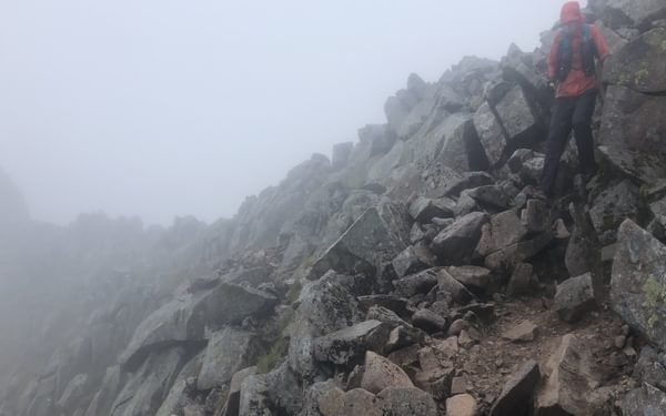 The Rocks On The Carn Mor Dearg Arete Were So Slippery We Really Had To Take Our Time And Be Careful