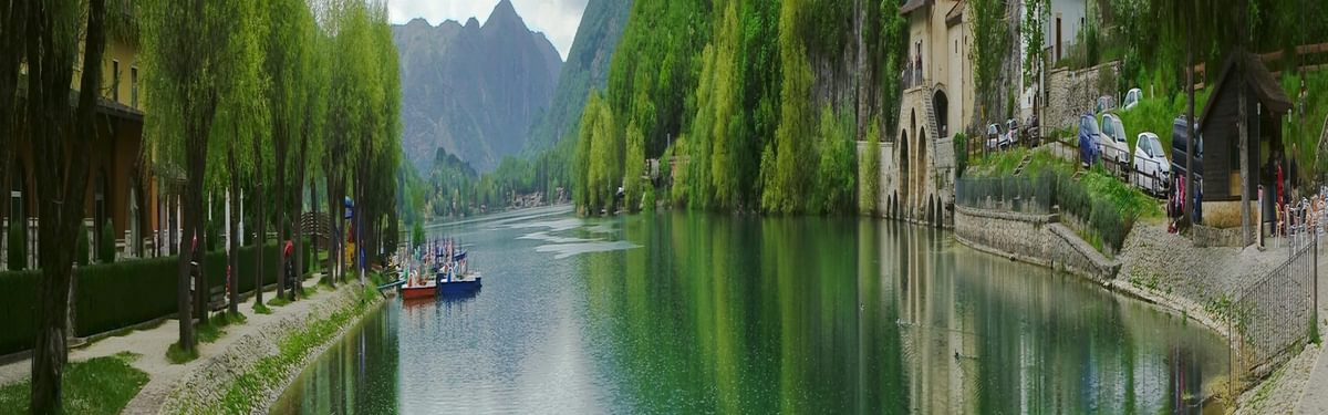 The beautiful Lake Scanno nestled in the Valle del Saggitario