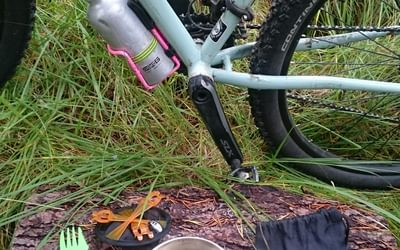 simple cooking system and use of bottle cages for fuel and water