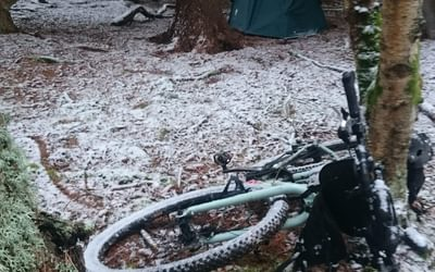 With the right kit and attitude bikepacking through the winter is possible