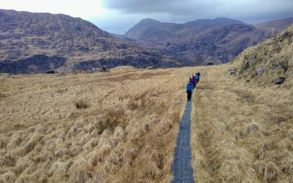 Heading through Esknamucky Glen
