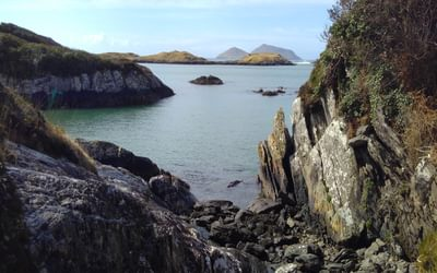 One of the hidden coves on the Mass Path near Derrynane Bay