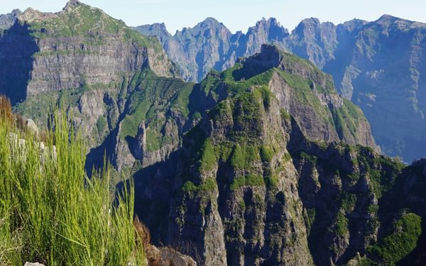 Madeira's highest mountains seen from the crest of Terreiros